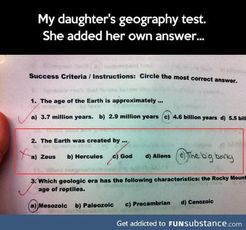 Little girl absolutely nails geography test