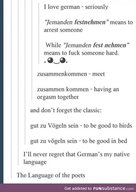 This is why I'm learning German