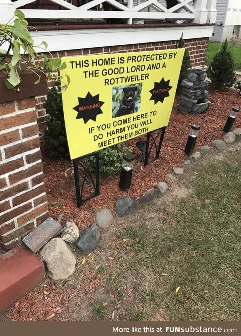 Front lawn sign