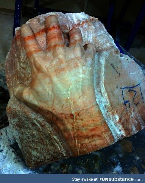 Carved from Alabaster