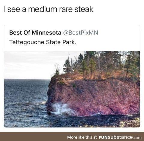 Huge steak