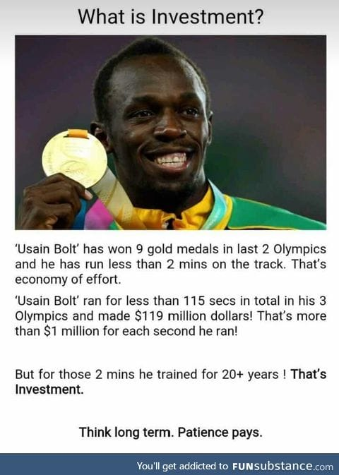 What is investment by usain bolt.