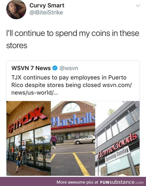 TJX continues to pay employees in Puerto Rico despite stores being closed