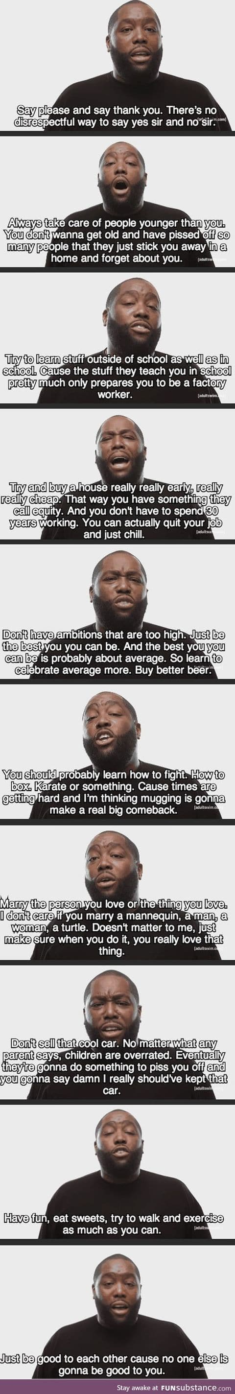List of life advice
