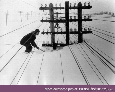 Winter in Siberia in 1960s