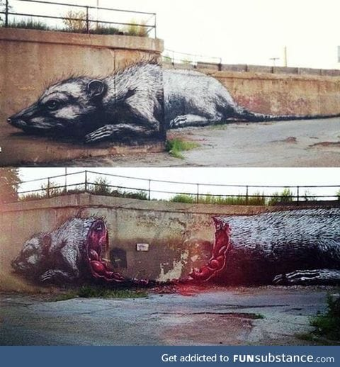 What a nice street art ... Oh wait?