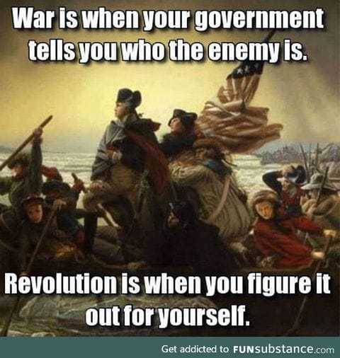 The difference between war and revolution