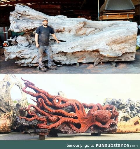 Jeffrey Samudosky carving skills