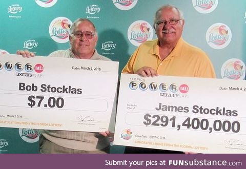 Brothers who both won the lottery on the same day