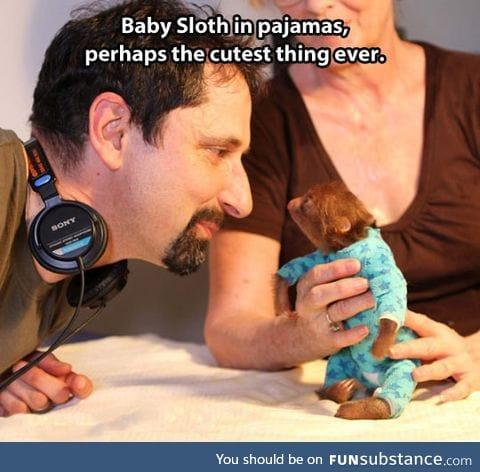 Tiny guy in pajamas