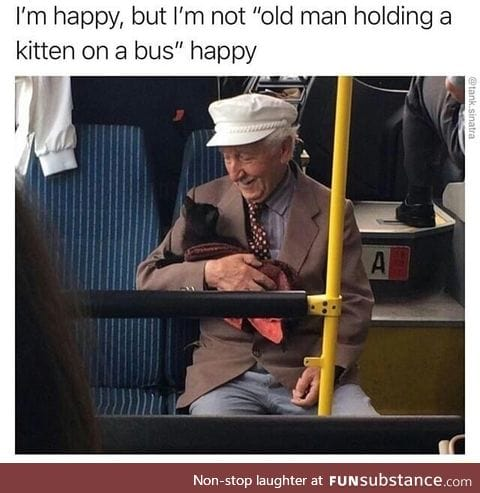 A comforting kind of happiness