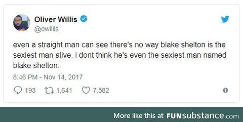 "Blake Shelton named People Magazines ""Sexiest Man Alive"""