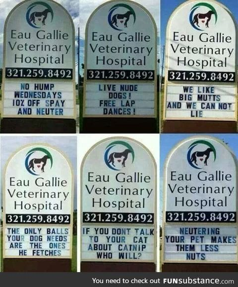 Creative veterinary signs