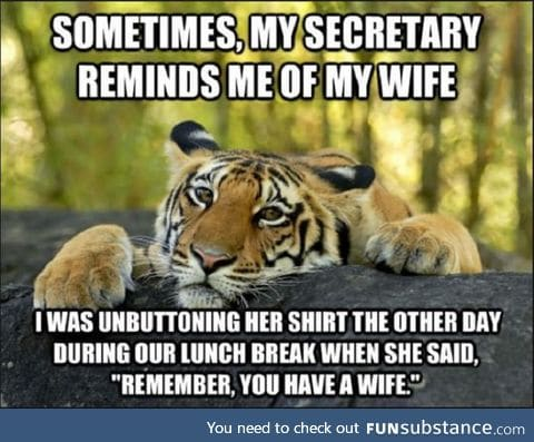 Such is life with a wife!