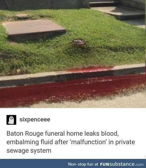 Dead people blood