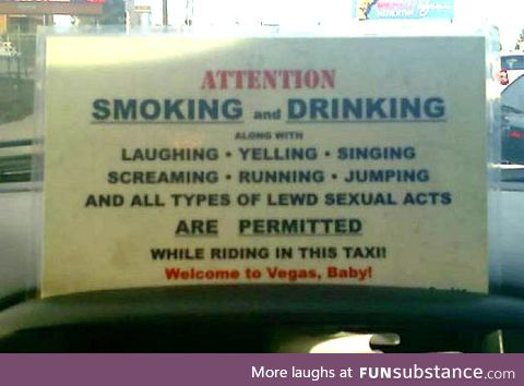 Vegas taxi rules