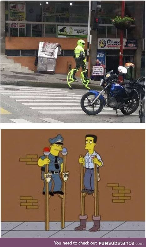 Mean while in colombia