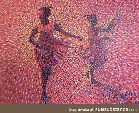 Dance Girls by Ghanaian artist Betty Acquah