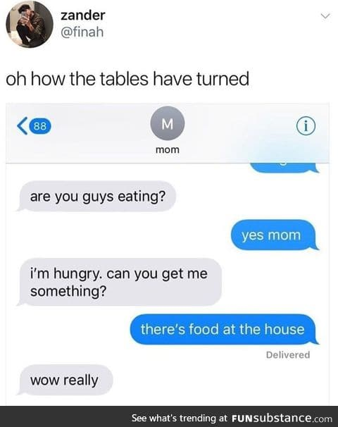Mum is disappointed