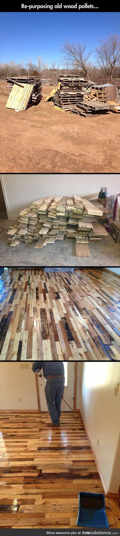 Old woods pallets