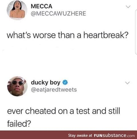 You suck at cheating too
