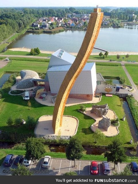 Worlds highest climbing wall