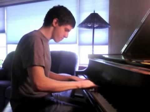 Dude plays the same catchy song on a piano in three different amazing styles