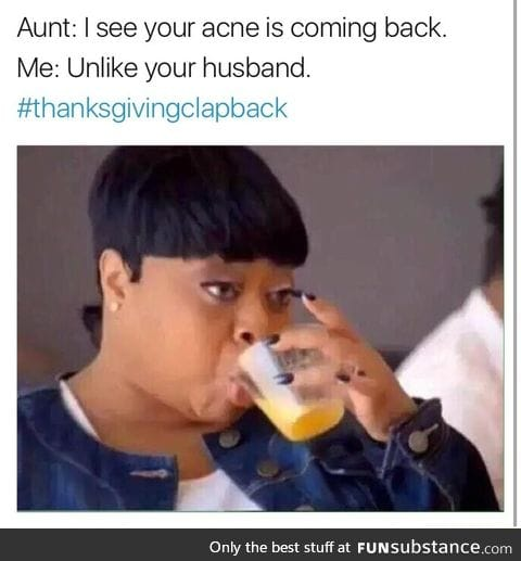 Thanks giving clapback