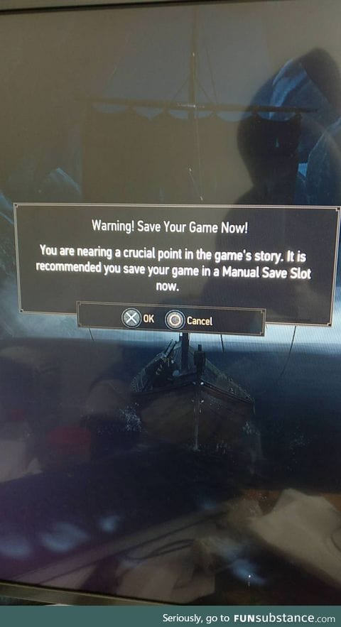 When the game knows shit is about to go down
