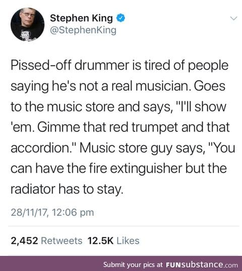 Drummers are not real musician