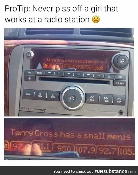 Never date a girl that works at a radio station