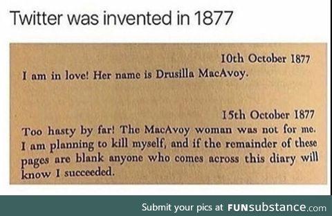 Twitter in 1877