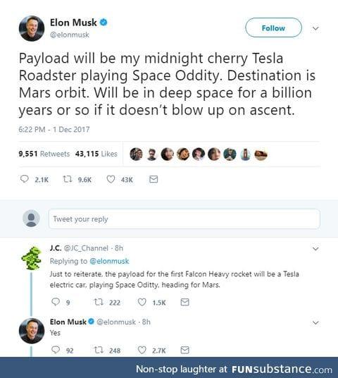 Ol Musky at it again