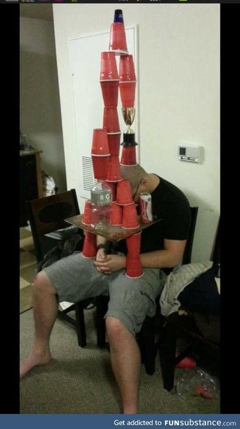 Drunk stacking record