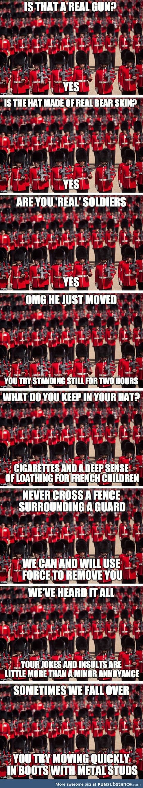 English guards with funny hats