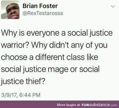 So a social media justice warrior would be a social justice bard