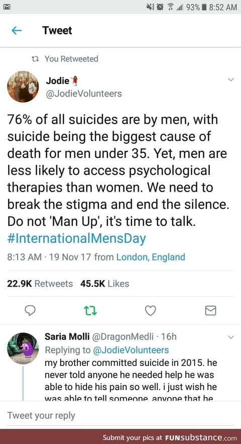 """Don't """"Man Up"""""""