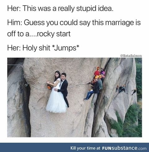 Marriage on the cliff