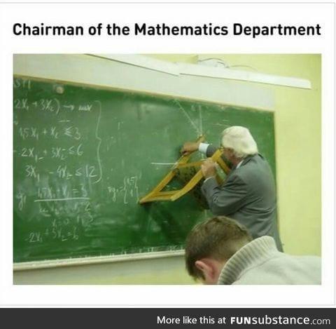 Chairman. Get it?