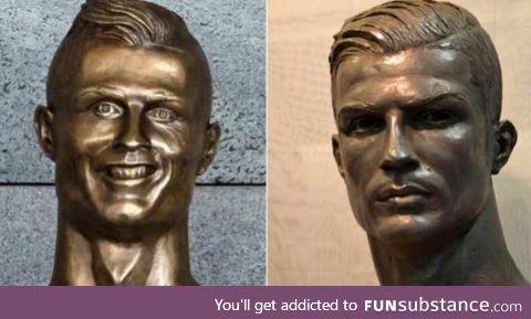 Ronaldo's statue was FINALLY replaced