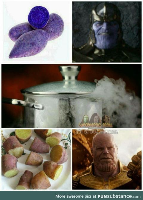 """Wondering why Thanos became """"pinker"""" in infinity war?"""