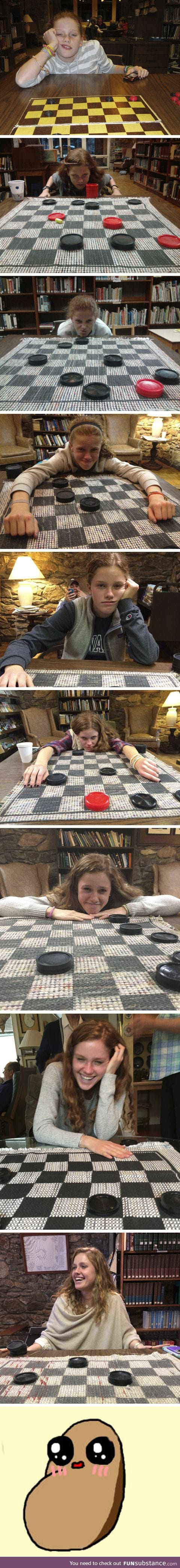 He's Been Documenting His Cousin Being Defeated On Checkers On Thanksgiving