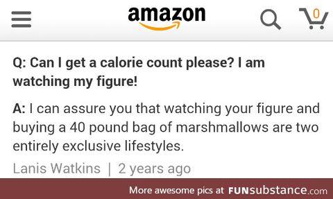 Calorie counter encountered on Amazon