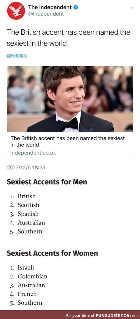 Sexiest accent