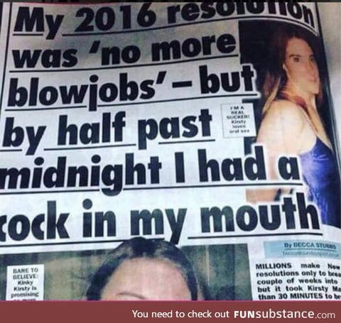 Some resolutions must be broken