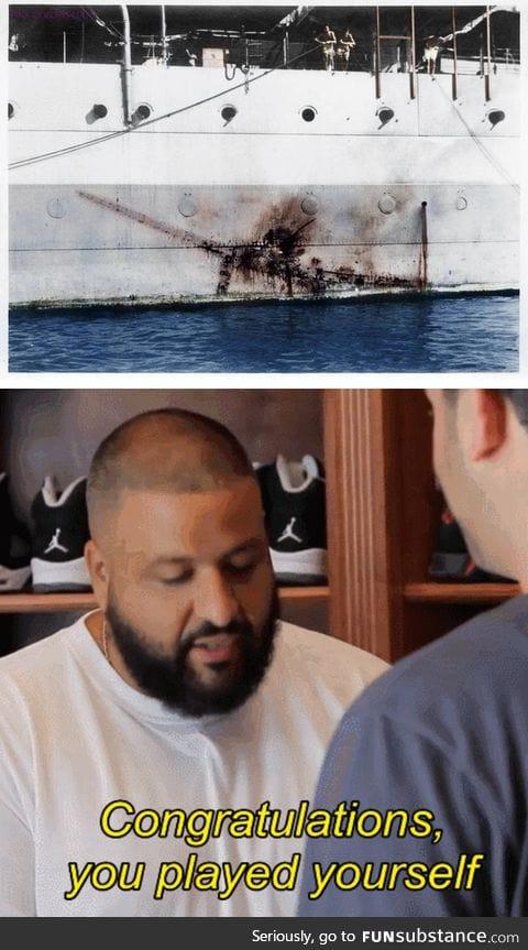 HMS Sussex vs. A Jap