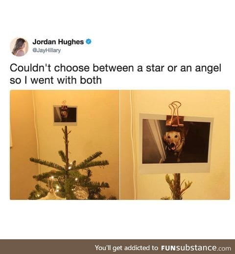 A star and an angel