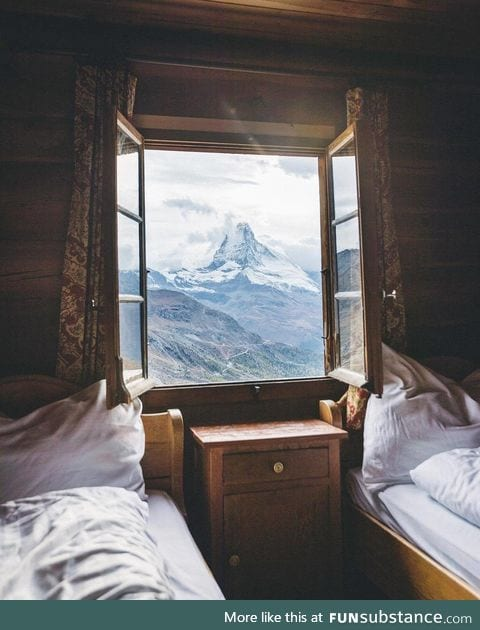A cozy room in the Alps