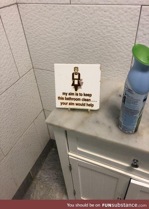 In the guys bathroom