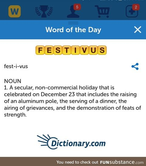 The word of the day is...